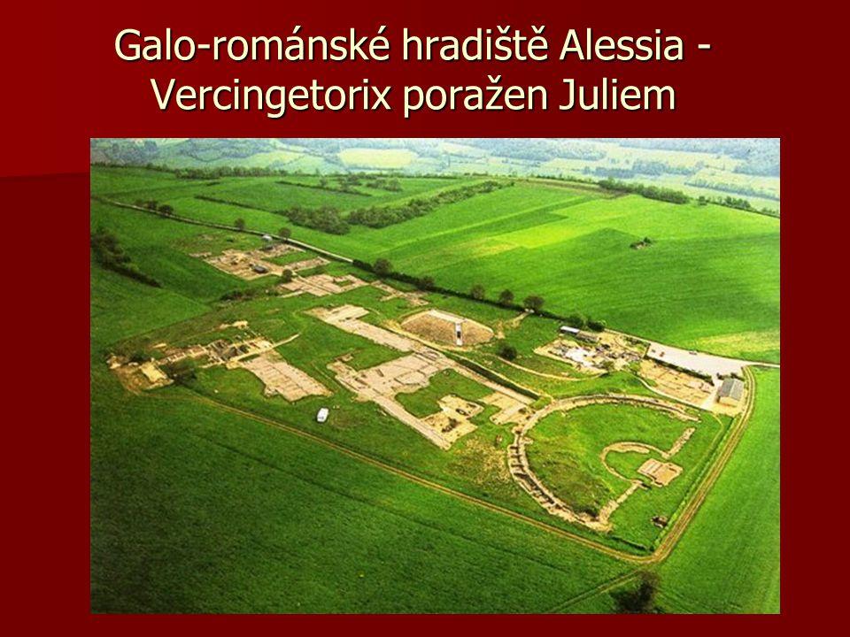 Galo-románské hradiště Alessia - Vercingetorix poražen Juliem
