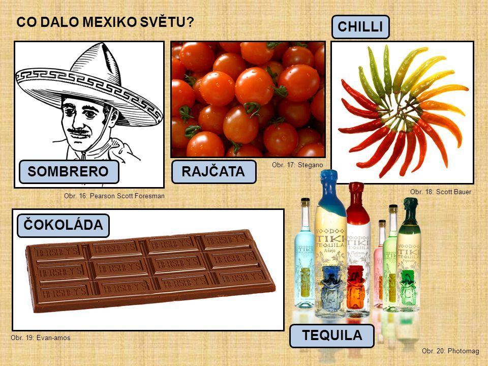 CO DALO MEXIKO SVĚTU? Obr. 16: Pearson Scott Foresman Obr. 17: Stegano Obr. 18: Scott Bauer Obr. 19: Evan-amos Obr. 20: Photomag RAJČATASOMBRERO CHILL