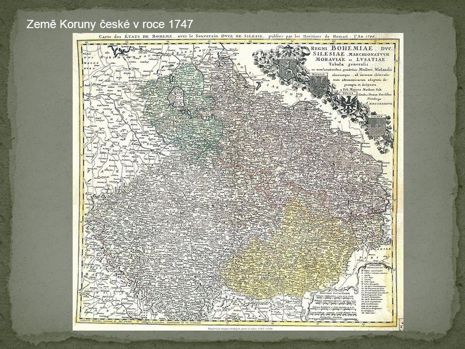 Země Koruny české v roce 1747