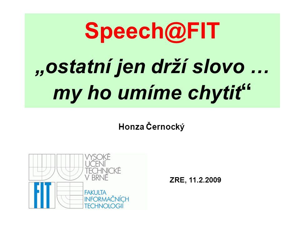 2 Co je Speech@FIT .