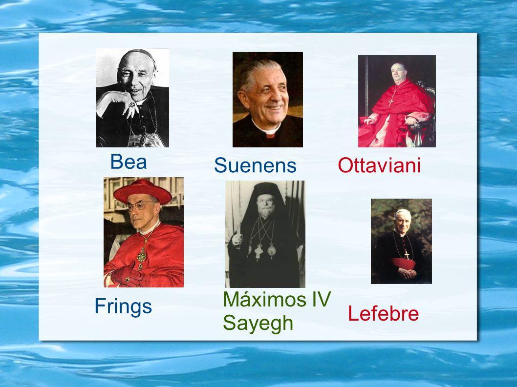 Bea Ottaviani Lefebre Frings Suenens Máximos IV Sayegh