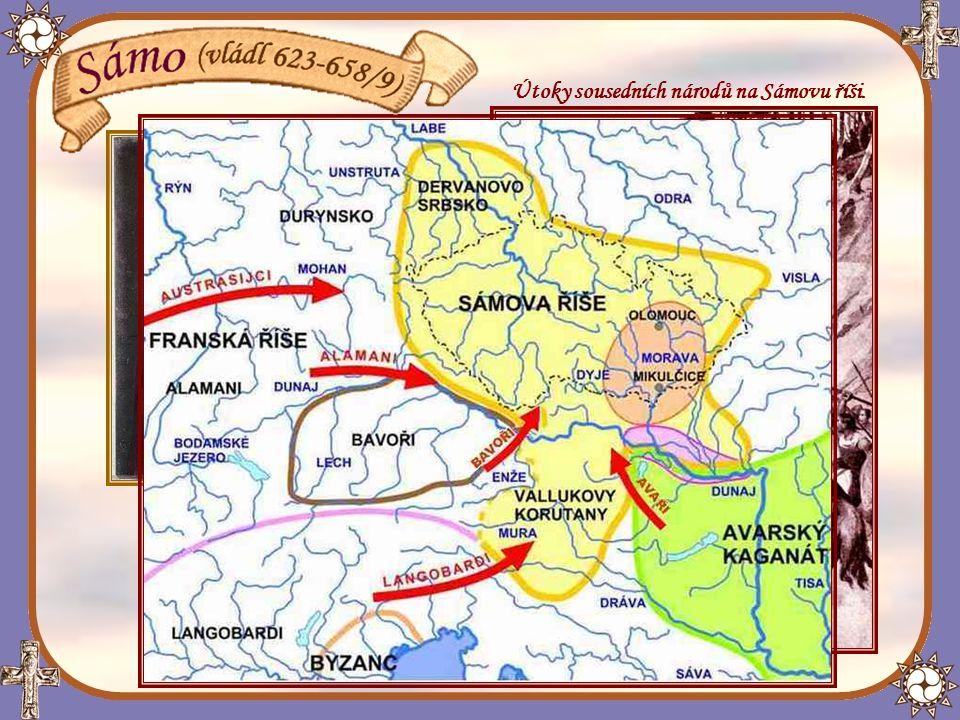 Po vítězství Sáma nad Avary zatoužil po území Slovanů i franský král Dagobert I.