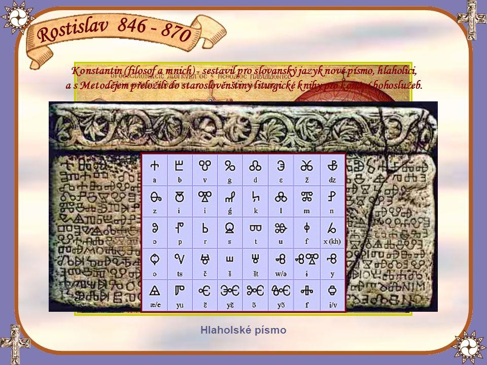 Příchod Cyrila a Metoděje na Moravu a jejich uvítání Rostislavem chrám sv.Cyrila a Metoděje v Soluni - Řecko Císař Michael III.