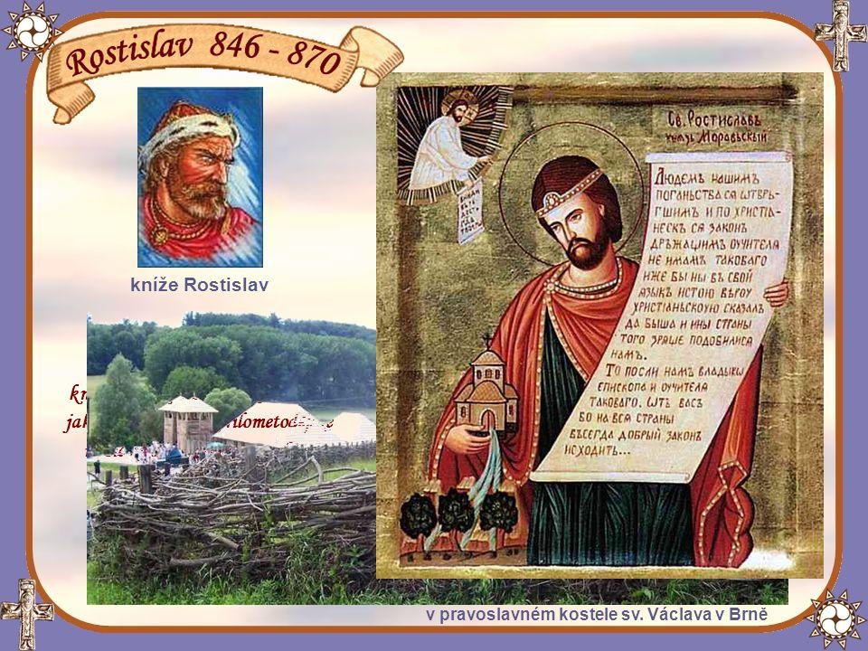 Vládychtivý Rostislavův synovec, nitranský kníže Svatopluk, se postavil proti Rostislavovi.