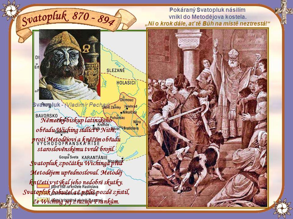 Rozšíření území říše Velká Morava, za panování jejího nejvýznamnějšího vládce Svatopluka.