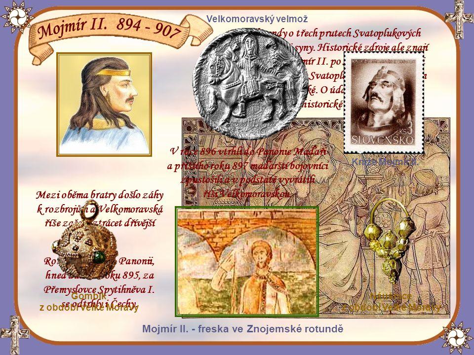 Podle legendy o třech prutech Svatoplukových měl mít kníže tři syny.