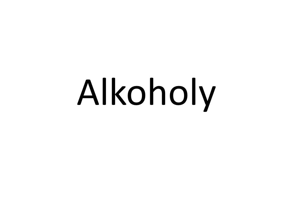 Chemické zařazení Alkoholy jsou organické chemické sloučeniny ze skupiny hydroxyderivátů - deriváty uhlovodíků, které vznikají náhradou jednoho či více atomů vodíku na atomu uhlíku nearomatického uhlovodíku hydroxylovou skupinou (-O-H).