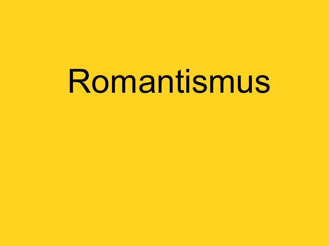 náměty: středověké dějiny soudobé události  dramatičnost, děj vyhrocen do maxima, barvy dotvářejí atmosféru krajinomalba  neklidná krajina, nevšední, tajuplná, dramatická, zjitřená romantické malířství se postupně více sbližuje s přírodou, spěje tak k věcnosti – k realismu hlavní představitelé: Eugéne Delacroix Theodore Gericault William Blake Caspar David Friedrich
