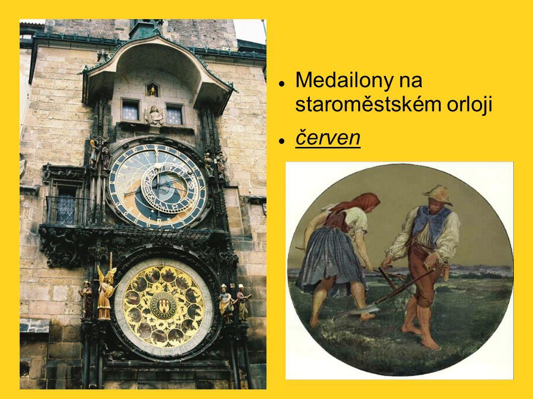 Medailony na staroměstském orloji červen