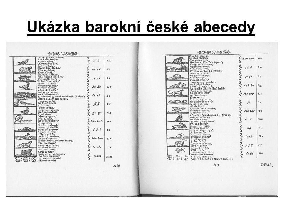 Ukázka barokní české abecedy