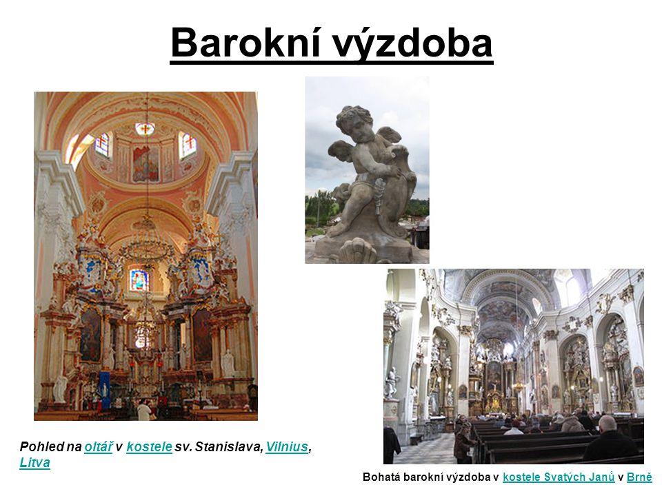 Barokní výzdoba Pohled na oltář v kostele sv.