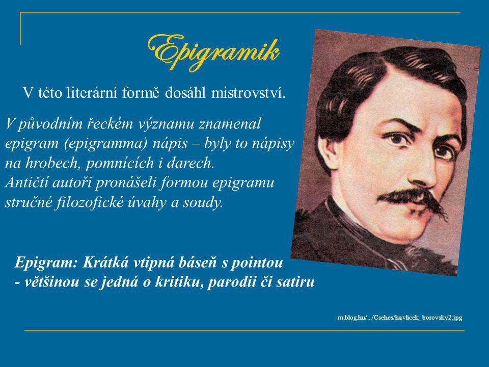 Téma: Karel Havlíček Borovský – 8.ročník Použitý software: držitel licence - ZŠ J.