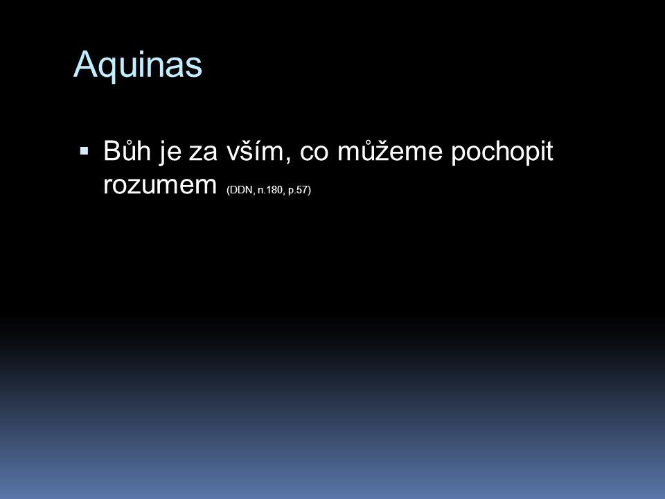 Aquinas  Bůh je za vším, co můžeme pochopit rozumem (DDN, n.180, p.57)