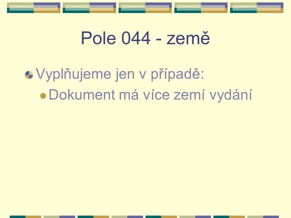 Pole 210 – Zkrácený klíčový název - příklady 2101# $a Zdr.