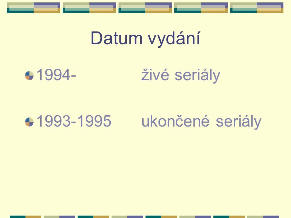 Datum vydání 1994-živé seriály 1993-1995ukončené seriály