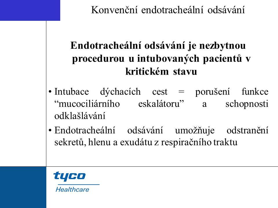 Konvenční endotracheální odsávání Endotracheální odsávání je nezbytnou procedurou u intubovaných pacientů v kritickém stavu Intubace dýchacích cest =