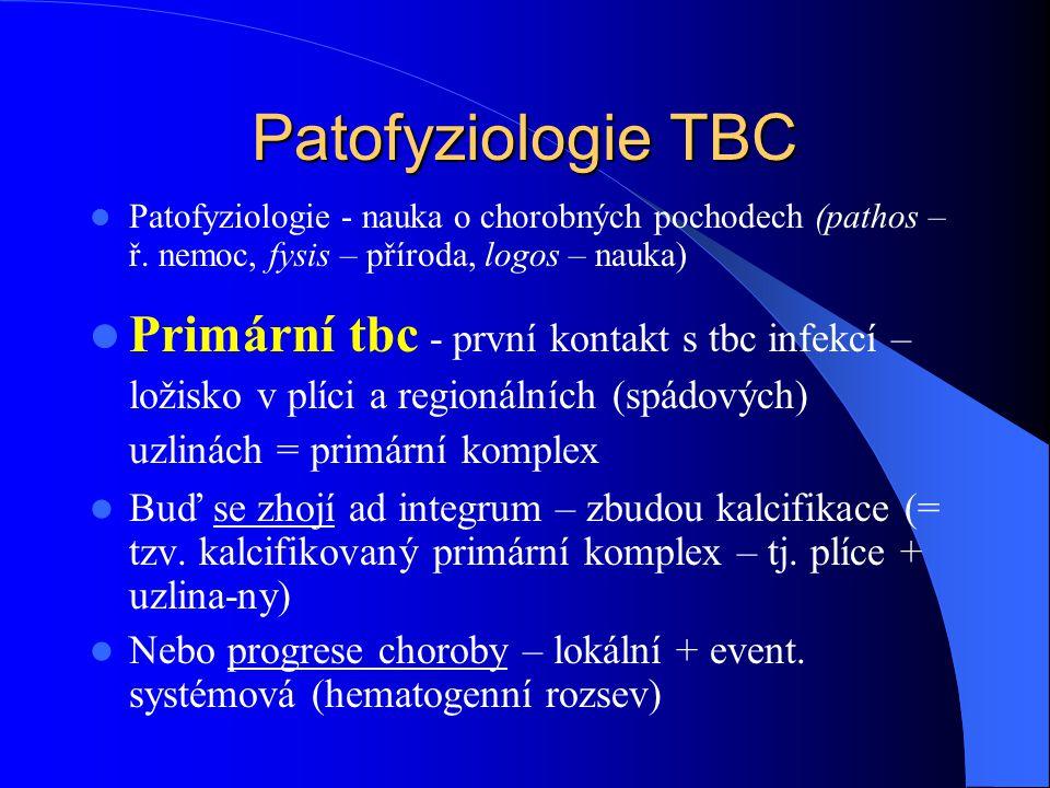 Patofyziologie TBC Patofyziologie - nauka o chorobných pochodech (pathos – ř.