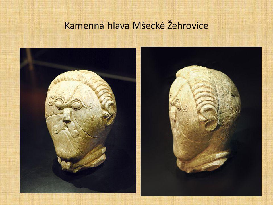 Kamenná hlava Mšecké Žehrovice