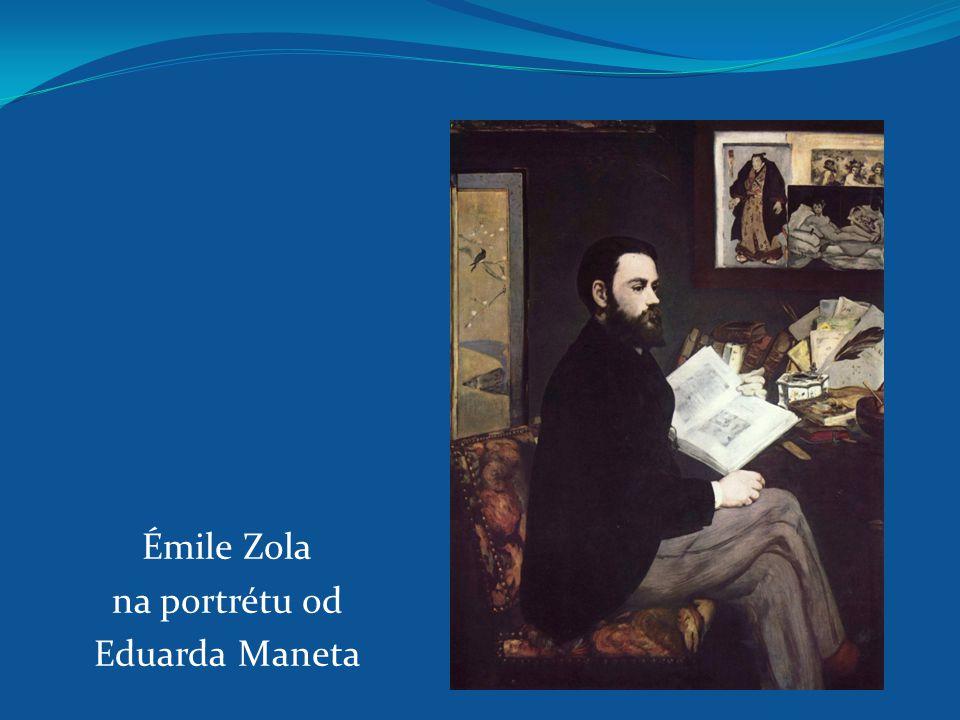 Émile Zola na portrétu od Eduarda Maneta