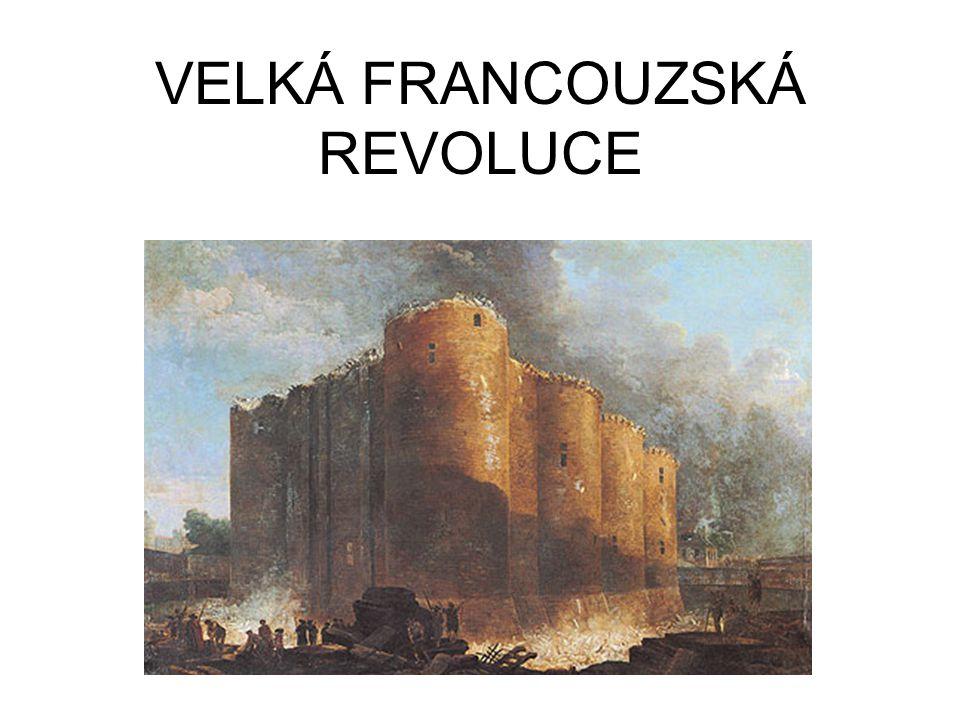KONSTITUČNÍ MONARCHIE 1791 – Francie konstituční monarchií, zákony tvoří poslanci Dva politické kluby - Levice (jakobíni – Robespierre) a pravice.