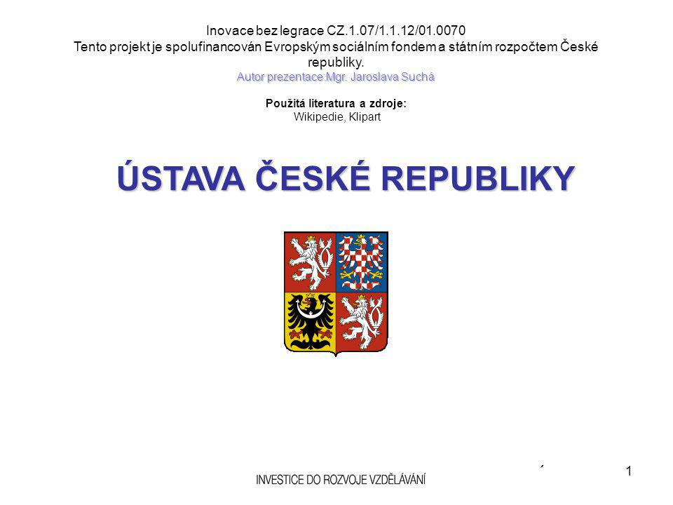 STRUČNÝ OBSAH ČLÁNKŮ: Česká republika se člení na obce, které jsou základními územními samosprávnými celky.