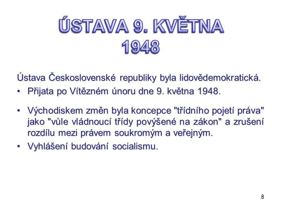 byla tvořena třemi částmi:  preambulí My, národ československý….