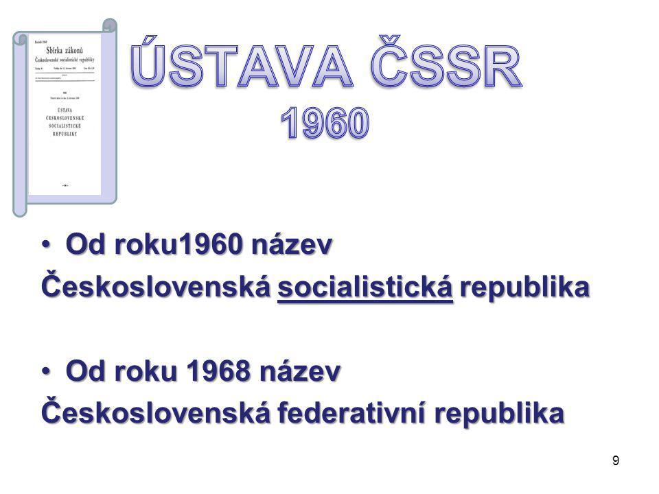 Ústava Československé republiky byla lidovědemokratická.