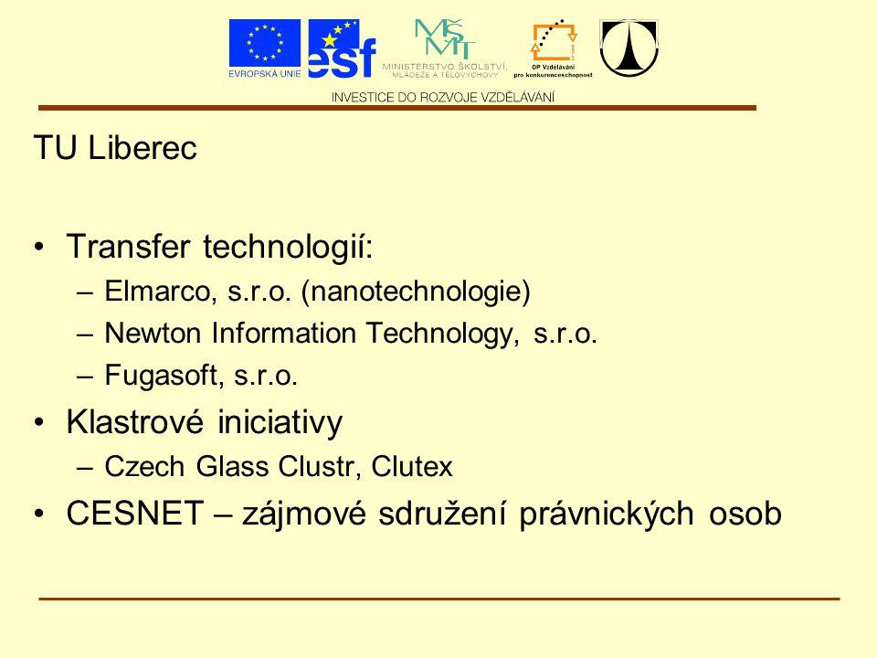 TU Liberec Transfer technologií: –Elmarco, s.r.o.