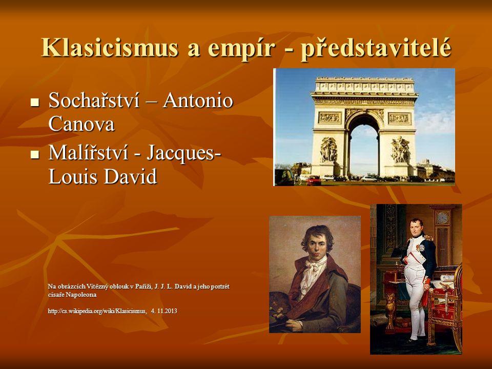 Domácí úkol 1.Vyhledejte obrázky významných památek evropského klasicistního a empírového stavitelství.Seznamte se s významnými díly A.