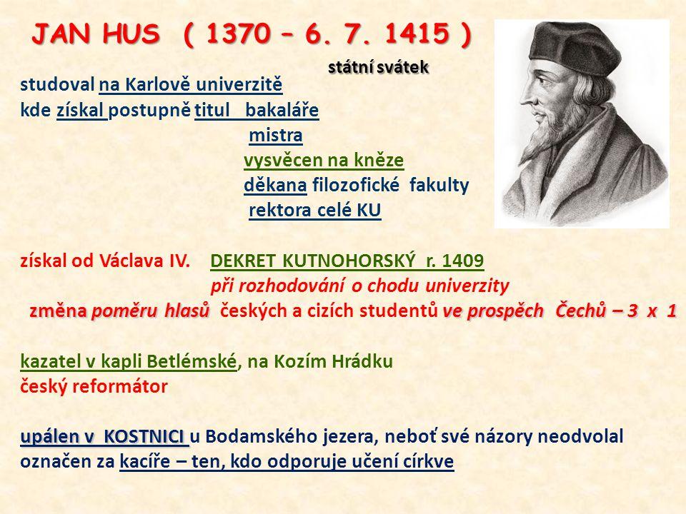 studoval na Karlově univerzitě kde získal postupně titul bakaláře mistra vysvěcen na kněze děkana filozofické fakulty rektora celé KU získal od Václav