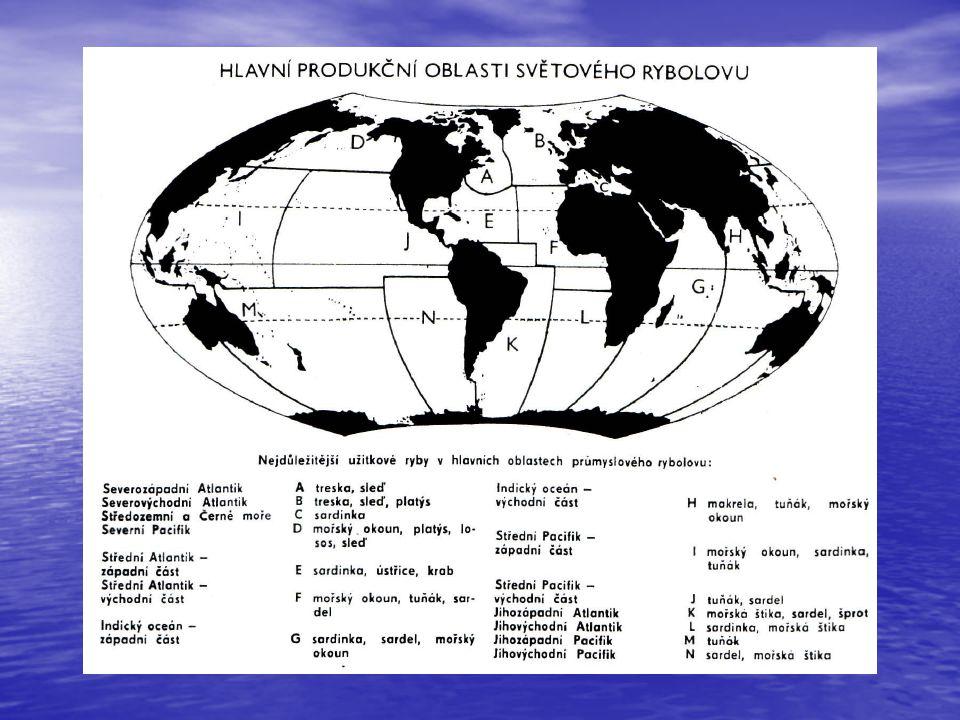 Rybářské státy rok 2000 podíl% Čína 14.800 t 17,2% Peru 10.600 t 12,3% Japonsko 4.900 t 5,7% USA 4.700 t 5,5% Chile 4.300 t 5% Indonésie 4.100 t 4,7% Rusko 3.900 t 4,5% Indie 2.800 t 3,3% Thajsko 2.700 t 3,1% Norsko 3,1%