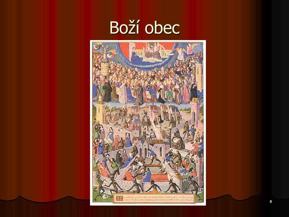 """19 Renesance - znovuzrození Pokus o obnovení řeckých a římských idejí a metod myšlení Pokus o obnovení řeckých a římských idejí a metod myšlení Teocentrický názor nahrazen """"člověkostředným Teocentrický názor nahrazen """"člověkostředným Řečtí filosofové postaveni na úroveň Bible Řečtí filosofové postaveni na úroveň Bible Individualismus a liberalismus Individualismus a liberalismus"""