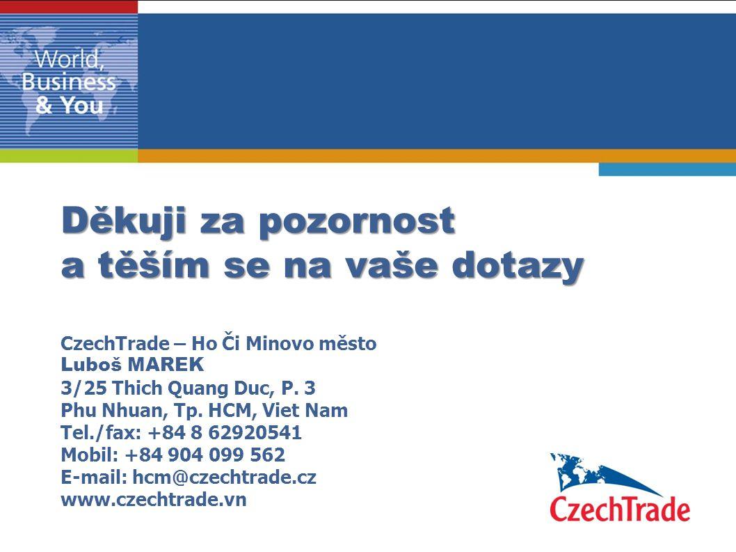 Děkuji za pozornost a těším se na vaše dotazy Děkuji za pozornost a těším se na vaše dotazy CzechTrade – Ho Či Minovo město Luboš MAREK 3/25 Thich Qua