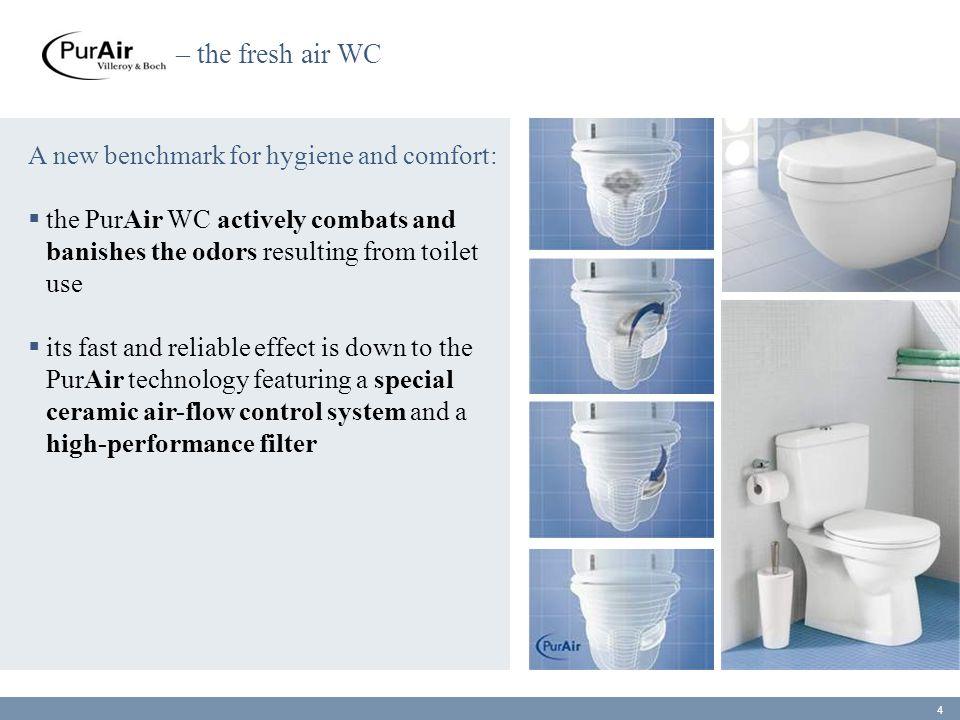 – síla Omnia architectura Větší splachovací síla se stejným objemem vody :  PowerFlush je vysoce-výkonný splachovací systém dvou proudů vody  silný tok emitovaných z dodatečného otevření, spláchne přímo do sifonu, zatímco druhý tok promyje mísu po okraj  PowerFlush je k dispozici závěsnému OMNIA architectura WC 45