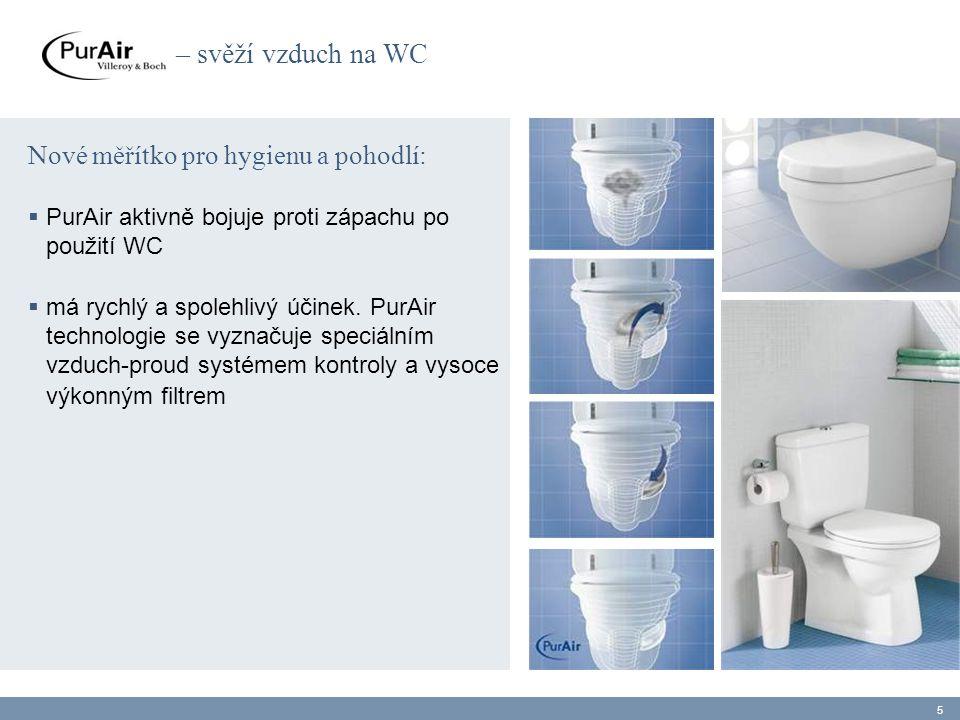 – svěží vzduch na WC Nové měřítko pro hygienu a pohodlí:  PurAir aktivně bojuje proti zápachu po použití WC  má rychlý a spolehlivý účinek. PurAir t