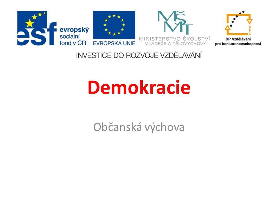 Demokracie Občanská výchova