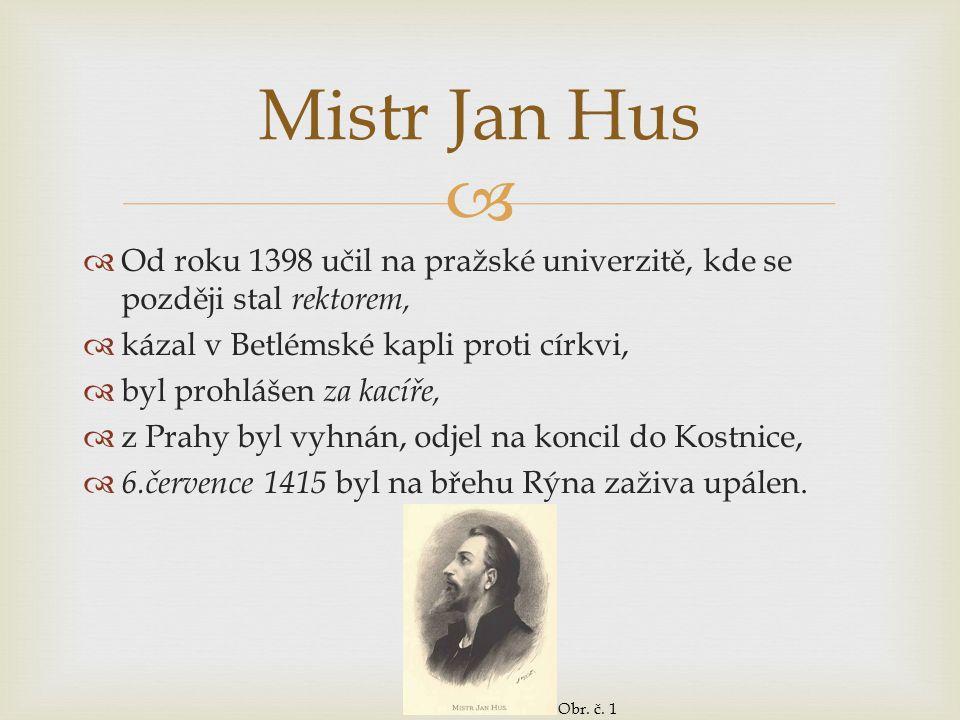   Od roku 1398 učil na pražské univerzitě, kde se později stal rektorem,  kázal v Betlémské kapli proti církvi,  byl prohlášen za kacíře,  z Prah