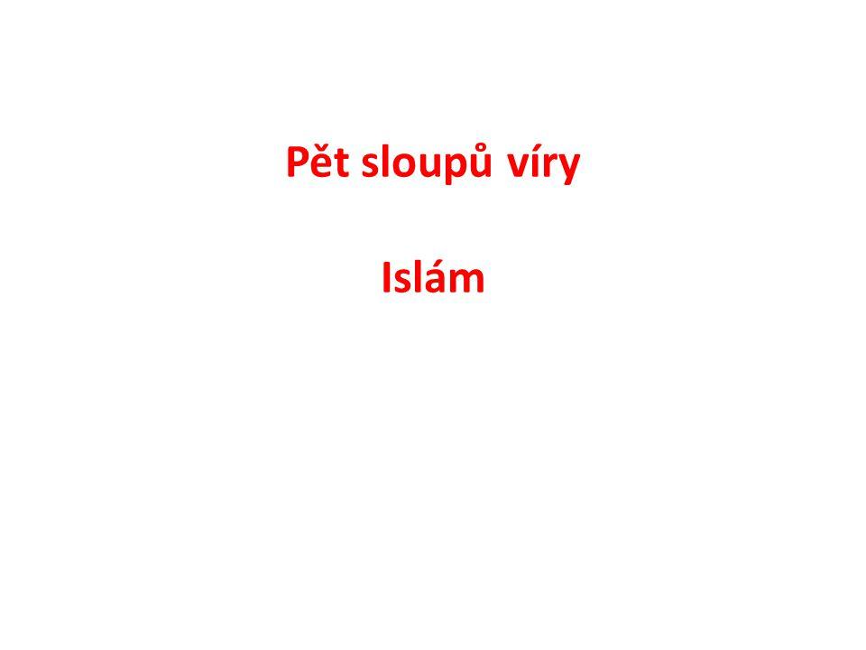 Pět sloupů víry Islám