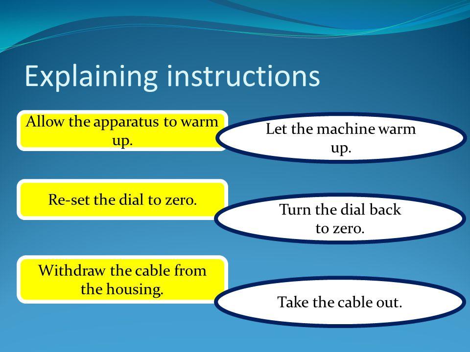 Explaining instructions Insert the cartridge.Put the cartridge in.