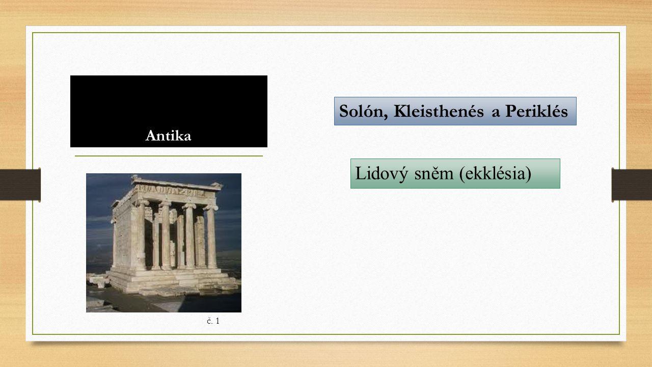 Antika Solón, Kleisthenés a Periklés Lidový sněm (ekklésia) č. 1