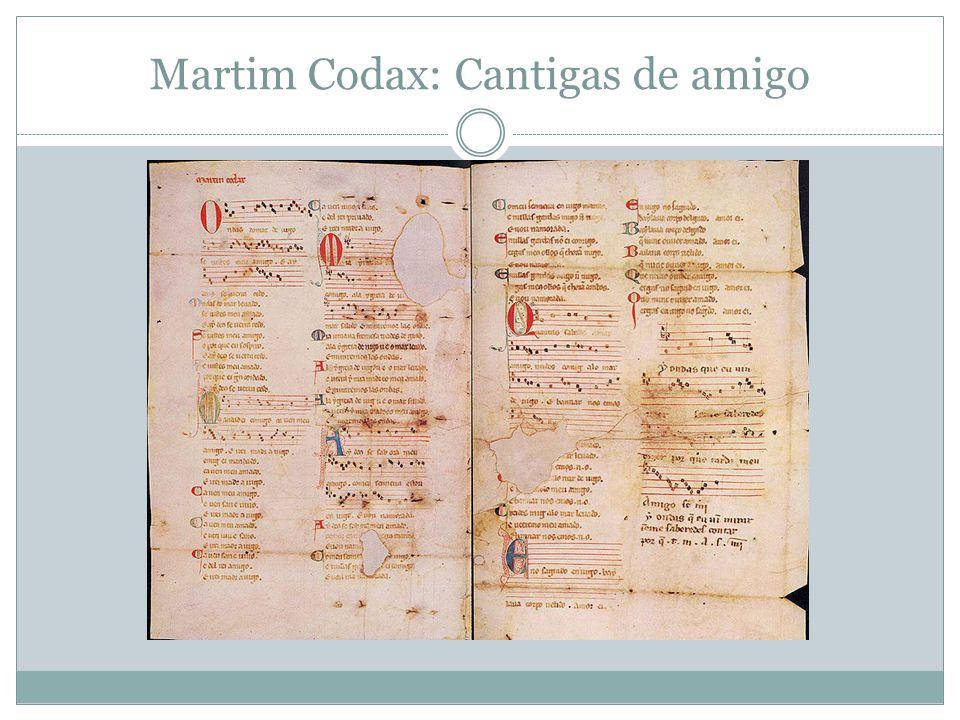 Martim Codax: Cantigas de amigo