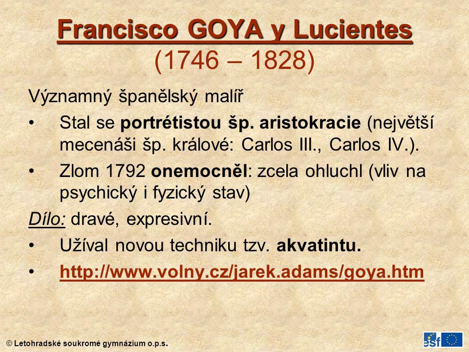 © Letohradské soukromé gymnázium o.p.s. Nahá Maja (1799-1800), Prado