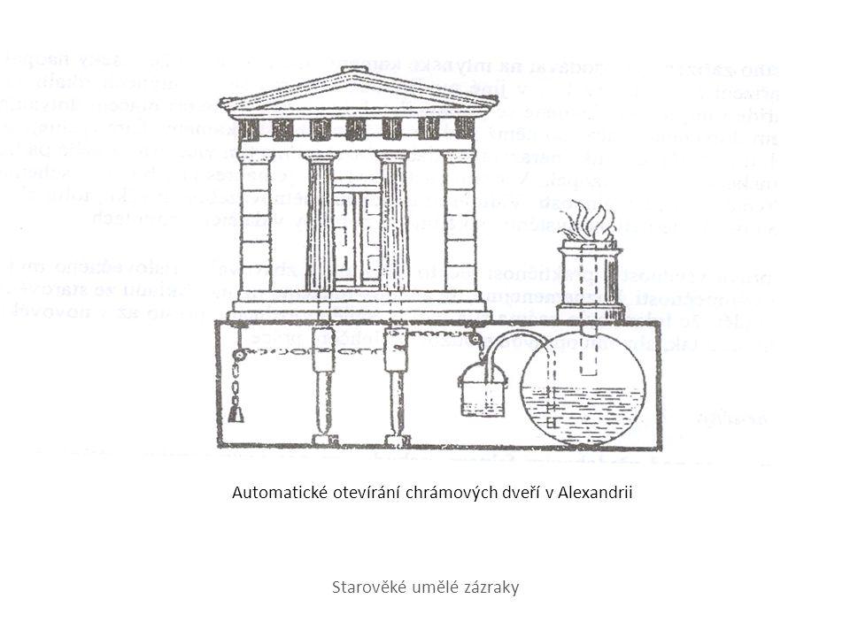 Automatické otevírání chrámových dveří v Alexandrii Starověké umělé zázraky
