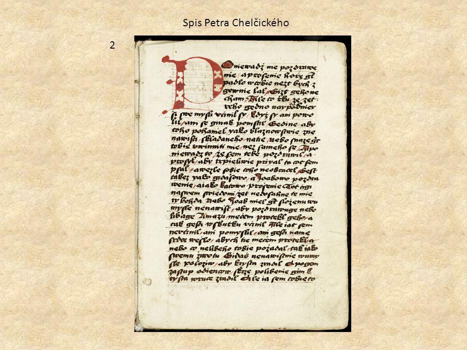 Spis Petra Chelčického 2