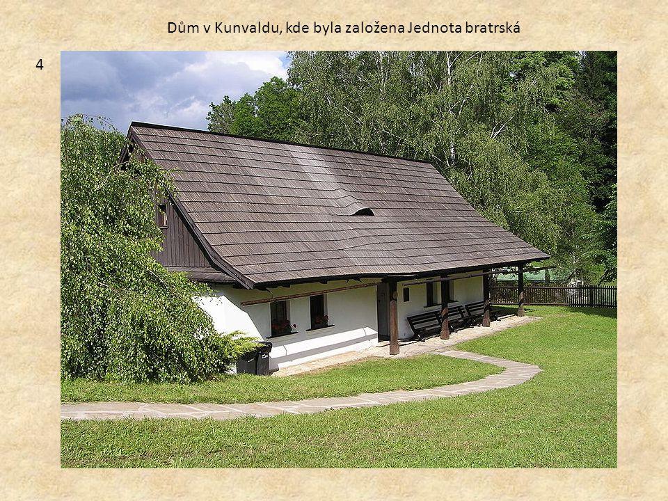 Dům v Kunvaldu, kde byla založena Jednota bratrská 4