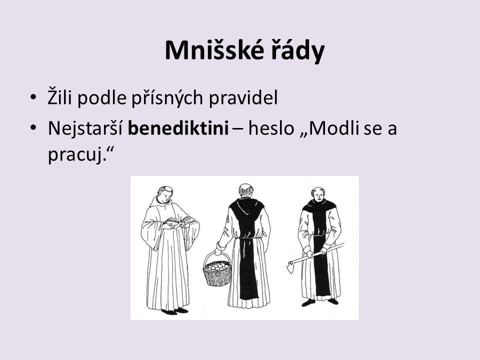 Žebravé řády Františkáni – sv.