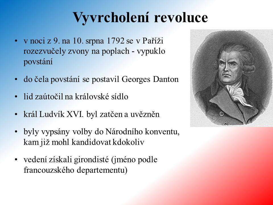 Vyvrcholení revoluce v noci z 9. na 10. srpna 1792 se v Paříži rozezvučely zvony na poplach - vypuklo povstání do čela povstání se postavil Georges Da