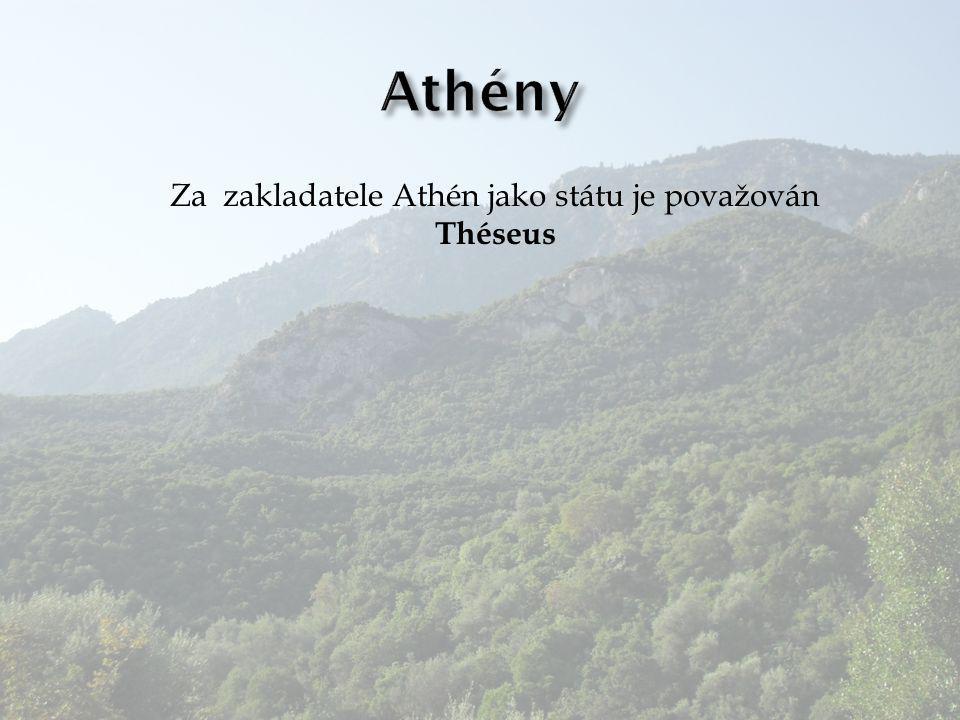 Za zakladatele Athén jako státu je považován Théseus