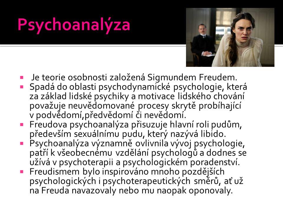  Je teorie osobnosti založená Sigmundem Freudem.