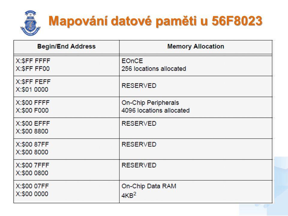 Mapování datové paměti u 56F8023